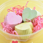 Homemade heart sidewalk chalks in recycled container @clubchicacircle