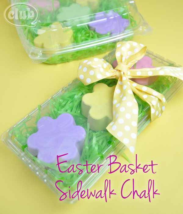 Homemade sidewalk chalks easter basket gift idea