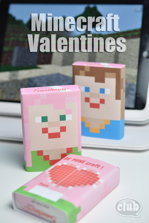 Minecraft Smarties Printable Wrapper