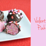 Valentines Day pink truffles feature