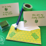 shamrock stationery homemade stamps