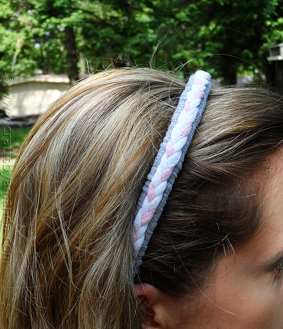 tshirt braided-headband craft for kids