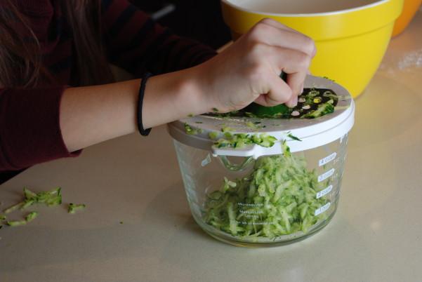 Zucchini shredding