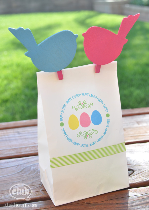 Spring and easter paper bag printing ideas with free printables happy easter gift bag free printable negle