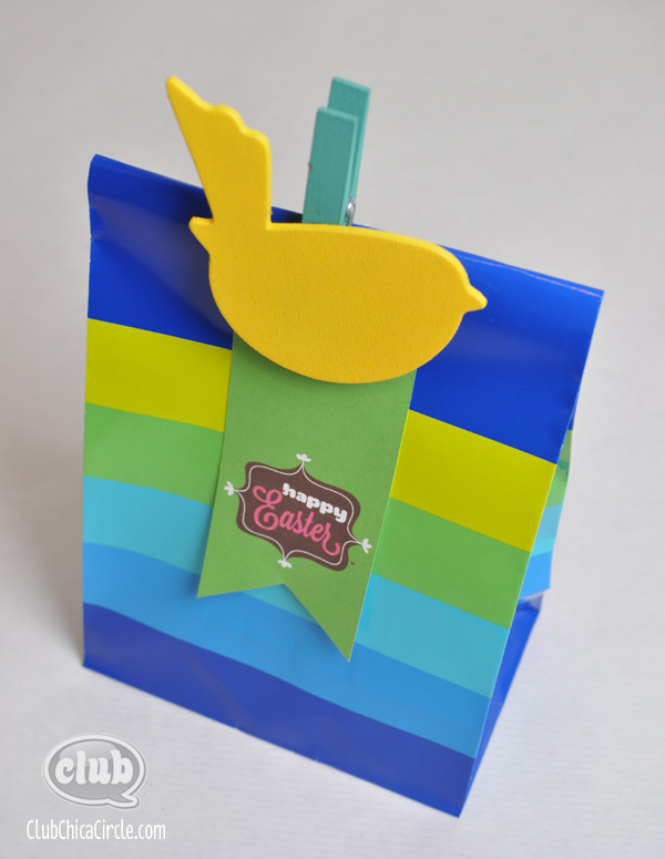 Spring and easter paper bag printing ideas with free printables happy easter printable gift bag tag negle Images