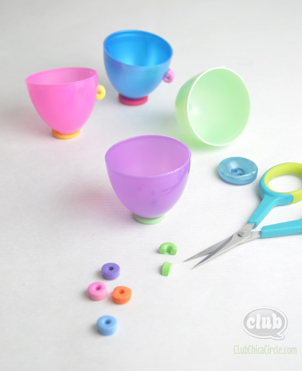 Leftover Plastic Egg craft idea @clubchicacircle