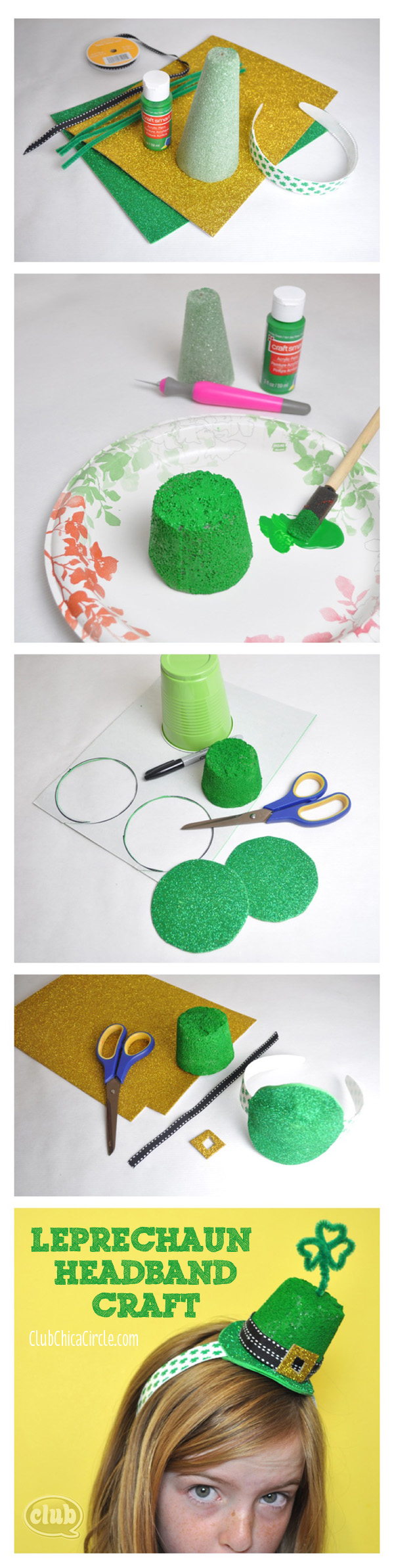 Leprechaun Headband craft idea