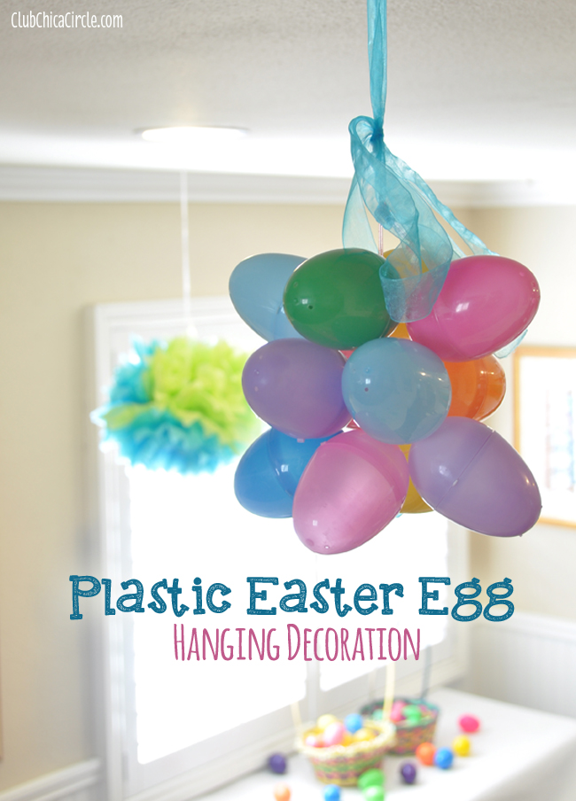Plastic Easter Egg Decoration Craft Idea