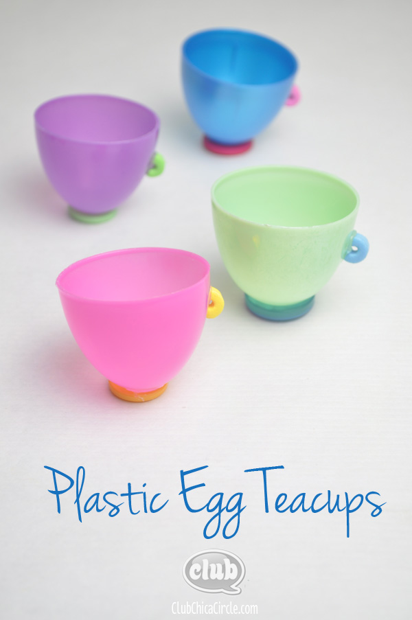 Plastic Easter Egg Teacups Craft Idea