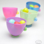 Plastic egg craft idea for kids