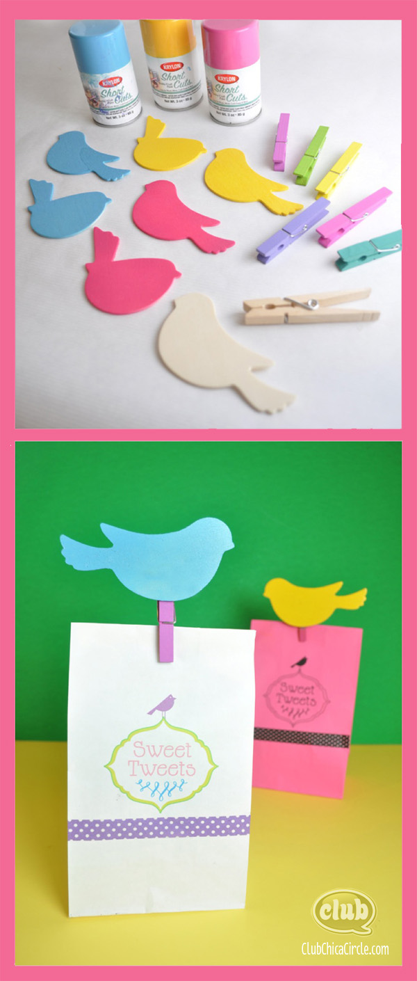 Spring Gift Bag Craft Idea @clubchicacircle