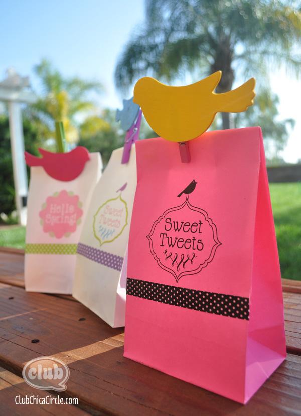 Spring Gift Bag Printables