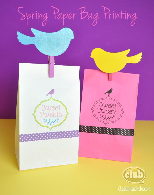 Spring Gift Paper Bag Printing