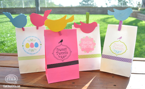 Spring and Easter Gift bags craft idea