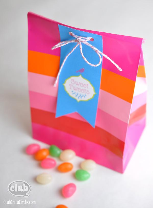 Sweet Tweets Spring Gift Bag craft