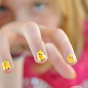 Tween Easter Sharpie manicure
