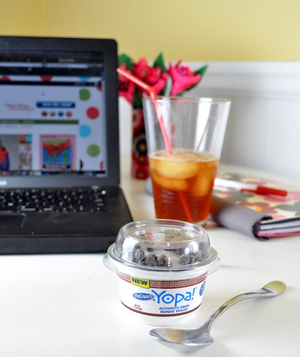 Yopa greek yogurt dark chocolate treat