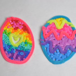 melted perler bead easter eggs
