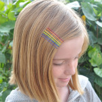 tween with rainbow bobby pins @clubchicacircle