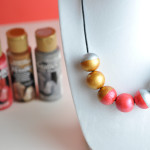 Painted beads statement necklace gift idea for mom