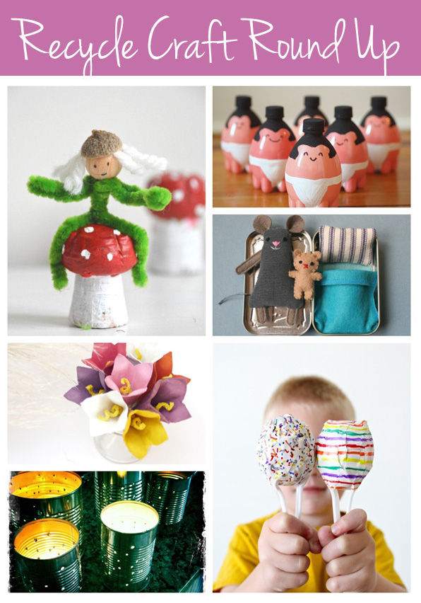 Recyclable crafts ideas for Easy recycling ideas