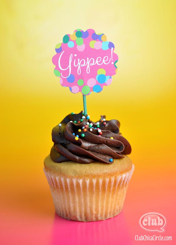 Yippee Free cupcake printable
