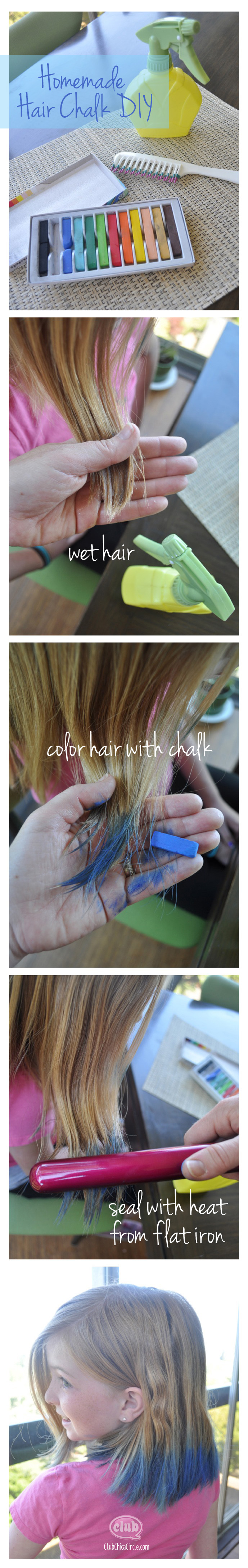 homemade hair chalk DIY @clubchicacircle