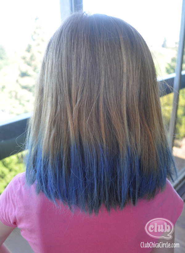 homemade hair chalk back view @clubchicacircle