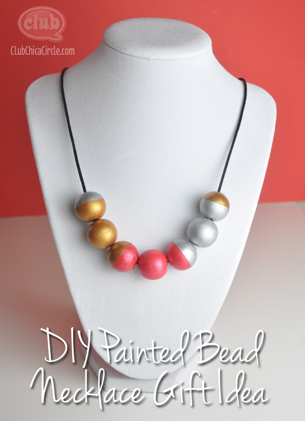 painted bead statement necklace gift craft