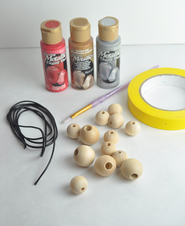 painted bead statement necklace supplies