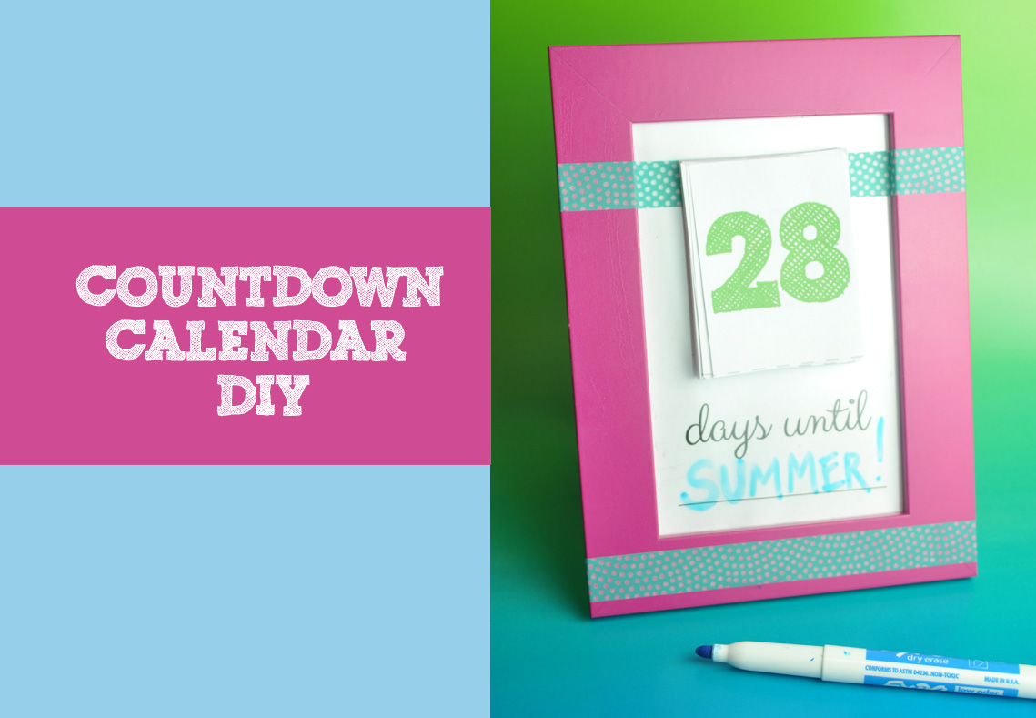 Make your own countdown calendar and notepad club chica for Make your own christmas countdown calendar
