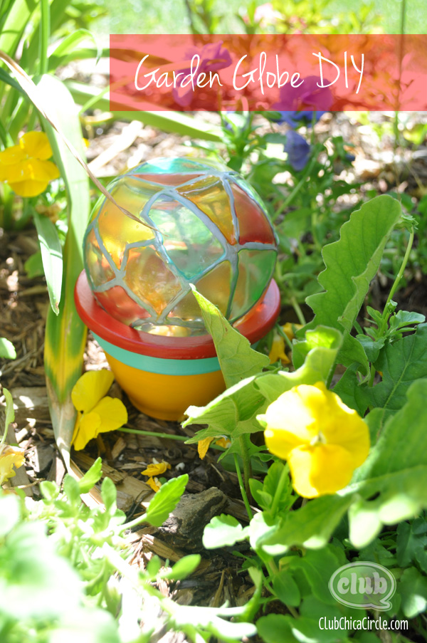 Garden Globe Painted Craft Idea