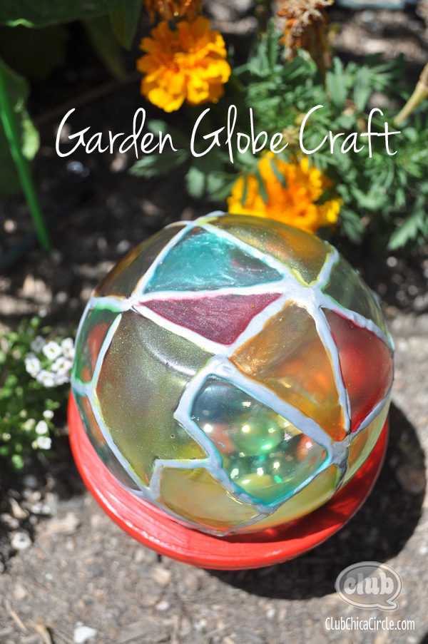Garden Globe Painted Craft
