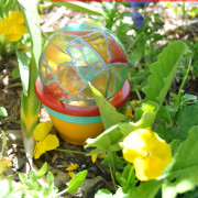 Homemade Garden Globe Painted Craft Idea