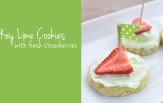 Key Lime cookies with Fresh Strawberries feature