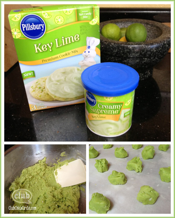 Lime cookies birthday treat
