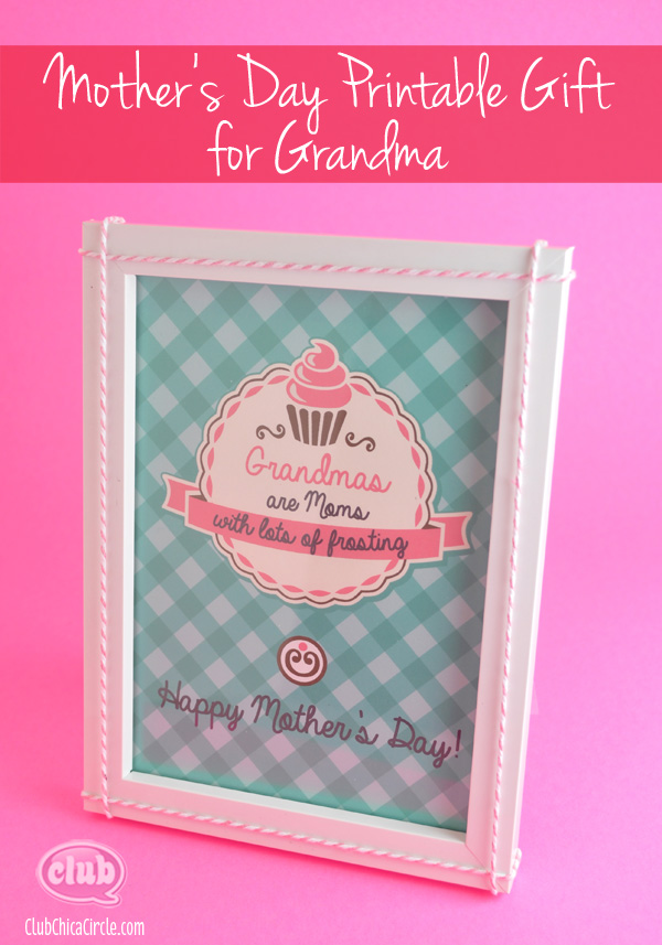 Mother's Day Free Printable gift for Grandma