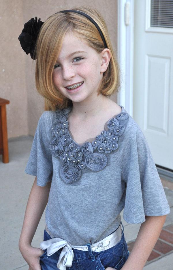 Tween Girl with Braces