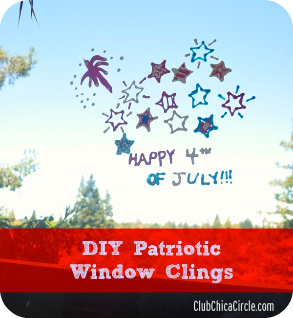 4th of July Window Clings craft idea for kids