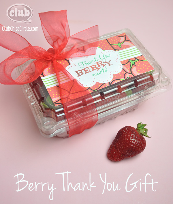 Berry Thank You Homemade Gift Idea