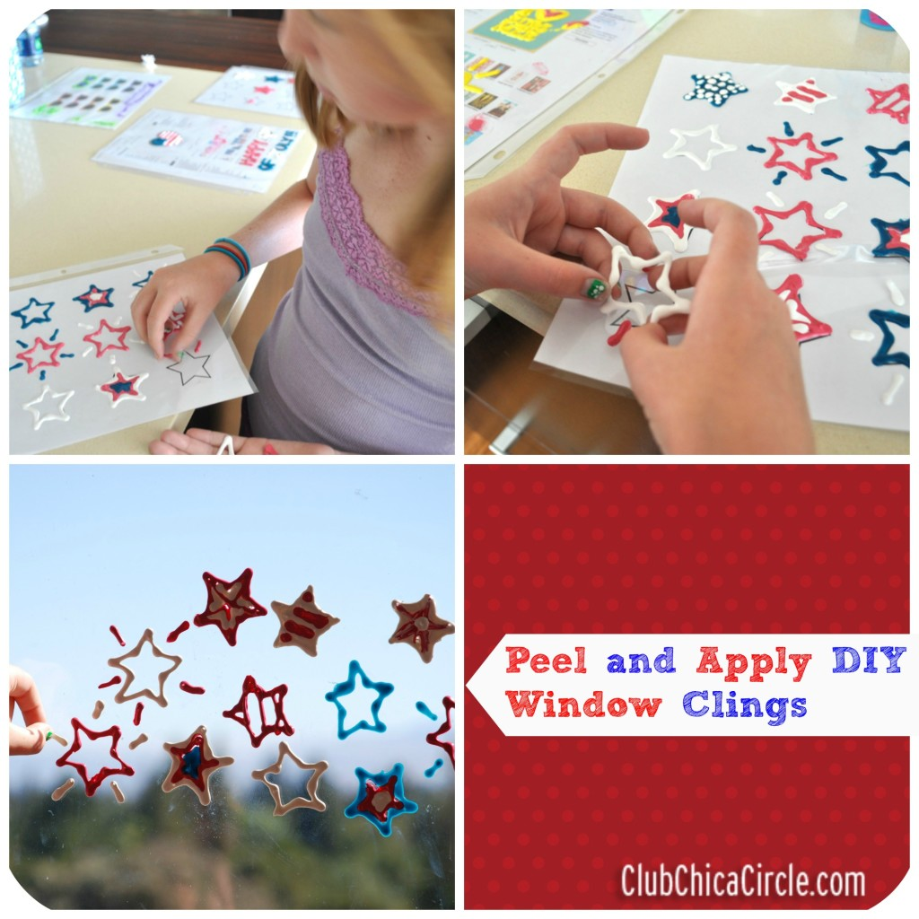 DIY Patriotic Window Clings