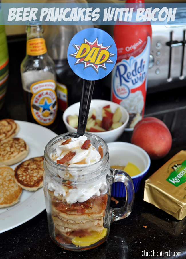 Fathers-Day-Beer Pancakes with Bacon in-a-Jar