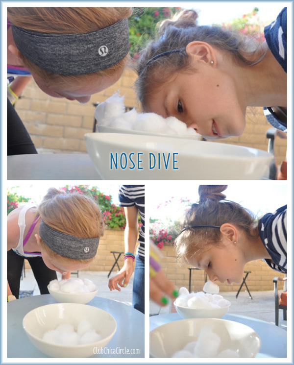 NOSE DIVE MINUTE TO WIN IT FOR KIDS