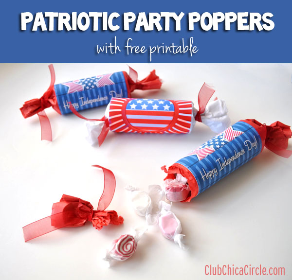 Patriotic Party poppers @clubchicacircle