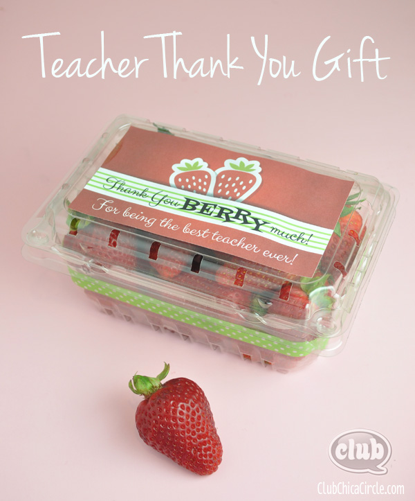 Strawberry Thank You Teacher Gift @clubchicacircle