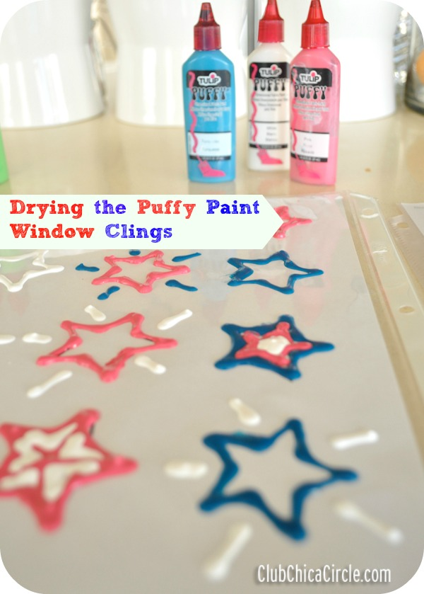 Tulip puffy paint window clings craft