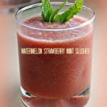 Watermelon Strawberry Mint Slushee