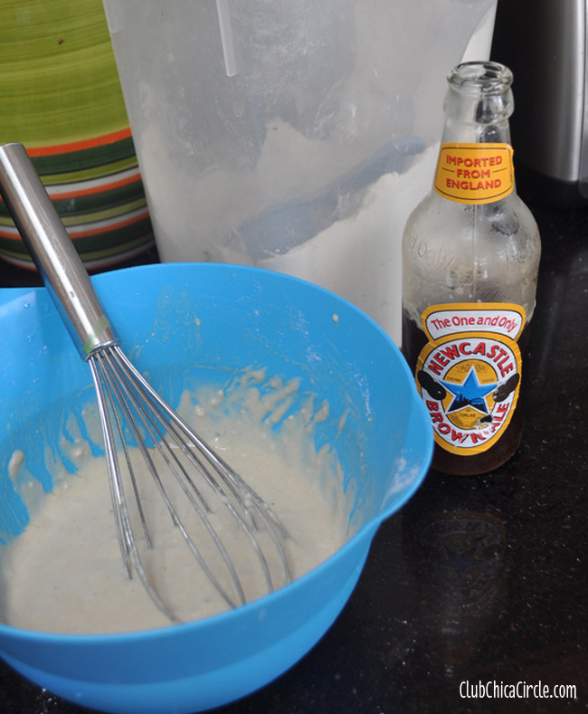 beer-mixed in pancakes