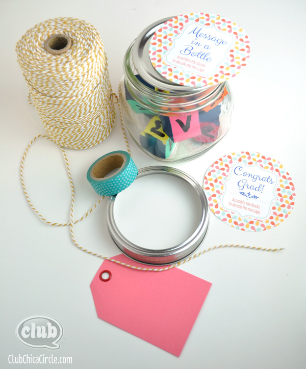 message blocks in jar craft supplies