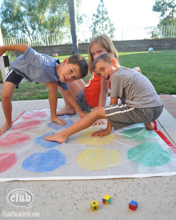 Backyard Bubble Twister Game @clubchicacircle